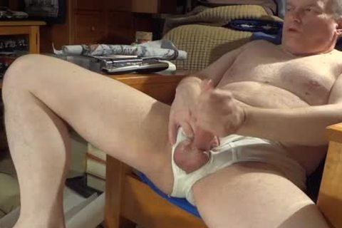 jerking off In White Briefs With valuable ejaculation