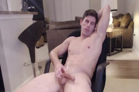 Straight Ripped Hunk loves Fingering His ass