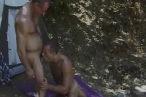 Cameron And Anthony fuck Outside